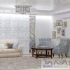 Дизайн голубой гостиной
