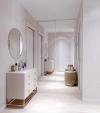 У нас можно заказать 3D дизайн проект квартир в Москве и Московской области.,Перед Вами проект интерьера квартиры, Заказчики которого захотели квартиру в светлых тонах с яркими акцентами на мебели и деталей. Основными пожеланиями были: квартира в современ