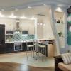 Дизайн квартиры гостиная-кухня Москва